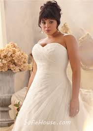 romantic a line sweetheart lace tulle beaded plus size wedding