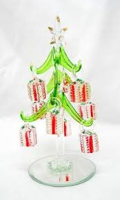 take a look at this santa miniature glass tree set by ls arts on