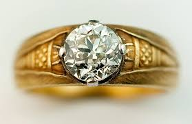 mens gold diamond rings details about vintage russian solitaire diamond gold men s ring