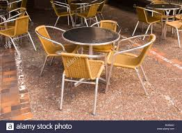 Coffe Shop Chairs Tables And Chairs Outside Coffee Shop London Great Britain Uk