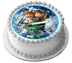 wars edible cake toppers lego wars 1 edible birthday cake or cupcake topper edible