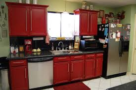 kitchen wonderful rustic red painted kitchen cabinets dscn6700