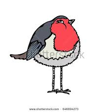 robin cartoon illustration red vector stock images royalty free