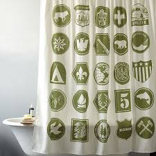 bathroom awesome scout themed shower curtain for boys bathroom decor