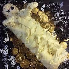 mummy halloween cake cutting cakes