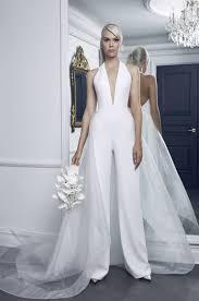 wedding dress jumpsuit romona keveza bridal wedding dress collection fall 2018 brides