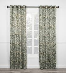 Victoria Classics Curtains Grommet by Adelle Medallion Print Lined Scallop Valance Window Curtain