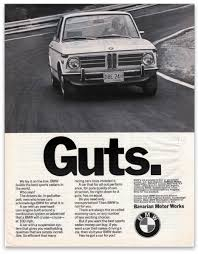 bmw ads 1973 bmw 2002 guts ad bmw 2002 bmw and ads