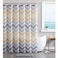 Multi Color Shower Curtains Vcny Home Multi Color Chevron 14 Piece Bath Set Shower Curtain
