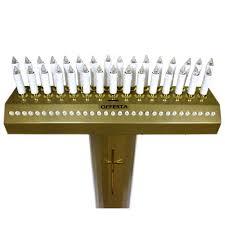 candelieri votivi votivo elettrico metallo dorato 31 candele led