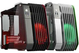 pc design geh use enermax steelwing small form factor pc chassis aluminum and glass