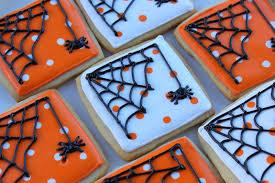 squibs and crackers spider halloween cookies
