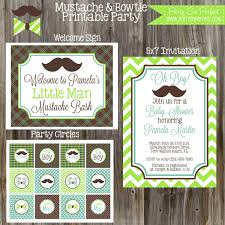 little man mustache baby shower little man mustache bash baby shower package boy diy