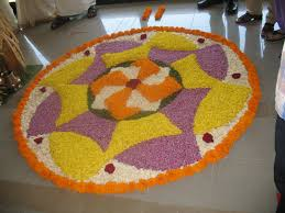 Home Decoration With Flowers Decor Simple Rangoli Decoration With Flowers Best Home Design