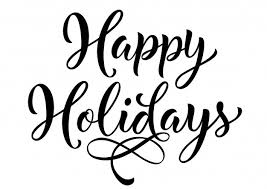 happy holidays lettering vector free