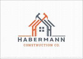 logo sold handyman construction building logo design featuring a