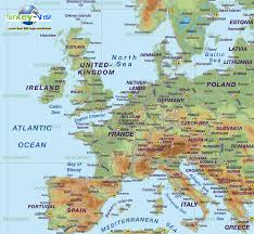 a map of europe with countries europe map germany