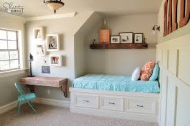 Shelf Bed Frame Diy Frame Shelves Shanty 2 Chic