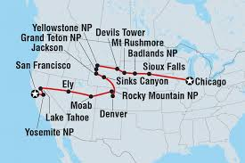Mt Rushmore Map San Francisco To Chicago United States Tours Intrepid Travel Us