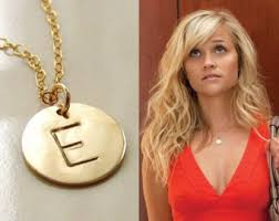 gold monogram initial necklace gold disc necklace etsy