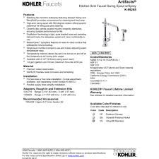 Kohler Kitchen Faucets Canada by Kohler K 99265 Vs Artifacts Vibrant Stainless Steel One Handle