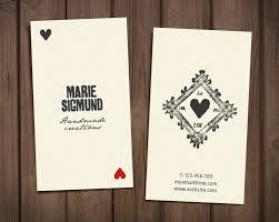 Playing Card Design Template Premade Business Card Template Retro Printable Card
