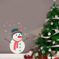 christmas snowman wall sticker by oakdene designs christmas snowman wall sticker