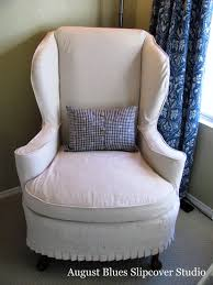 bedroom astonishing wing chair recliner slipcover for elegant miraculous fleece wing chair recliner slipcover with rectangle blue pillow cover on white rug for family