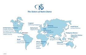 Provinces Of Italy Map International Map Of Snd Sisters Of Notre Dame Toledo Province