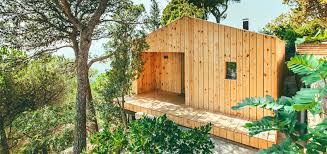 barcelona inhabitat green design innovation architecture exquisite solar powered wooden house in spain boasts a tiny ecological footprint