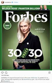 karlie kloss makes cover of forbes 30 under 30 daily mail online