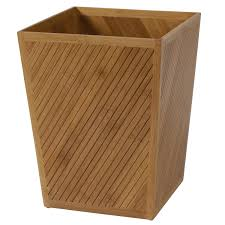 amazon com creative bath products spa bamboo waste basket home