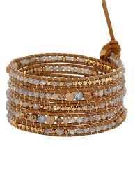 rhinestone leather wrap bracelet images Wrap bracelets chan luu jpg