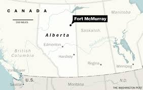 Where Is Fort Mcmurray On A Map Of Canada A Canadian Oil Sands Town Is On Fire 80 000 Residents Must