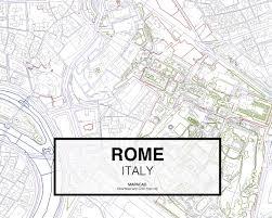 Rome Italy Map Rome Dwg Mapacad