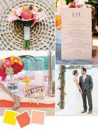 What Color Compliments Pink by Beach Wedding Color Palettes We Love