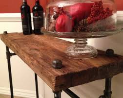 Wood Sofa Table Sofa Table Etsy