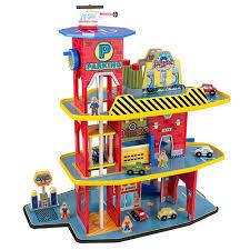 kidkraft deluxe wooden toy garage set 17481 jadlam toys u0026 models