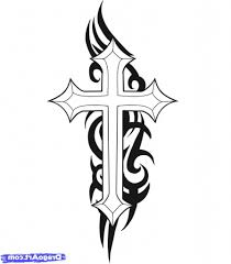 cros tattoo simple cross drawing how to draw a cross tattoo step step tattoos