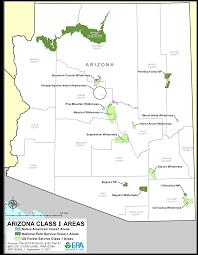 Maps Of Arizona Arizona Federal Class 1 Areas Maps Air Quality Analysis