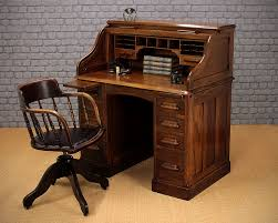 Small Oak Writing Desk by Small Oak Roll Top Desk C 1920 Antiques Atlas