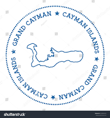 Grand Cayman Map Grand Cayman Vector Map Sticker Hipster Stock Vector 553495216