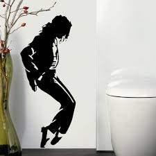 large michael jackson jacko music icon wall art sticker transfer large michael jackson jacko music icon wall art sticker transfer vinyl decal vinyl stickers diy home decoration in wall stickers from home garden on
