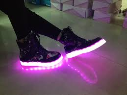 shoes with lights on the bottom 100 genuine leather real tpr bottom led lighted sport cool style