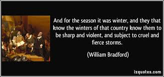 history of plymouth plantation by william bradford and for the season it was winter and they that the winters