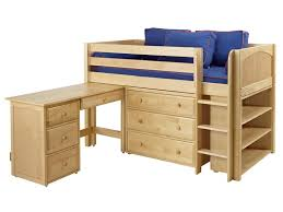twin loft bed with desk home products beds twin low loft bed solid