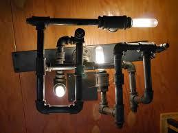 Steunk Light Fixtures Diy Steunk Dieselpunk Modern L Light W Recycled Pipe