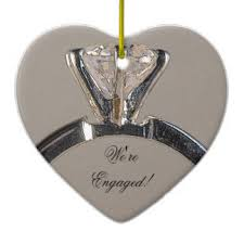 engagement ring tree decorations ornaments zazzle co uk