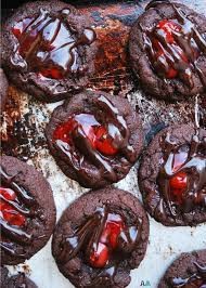 Cherry Chocolate Thumbprint Cookies Gf Df Egg Soy Peanut