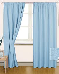 Blackout Nursery Curtains Uk by Black Curtain Blue Pencil Pleat Blackout Pair Homescapes Curtains